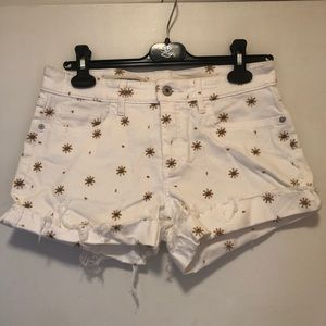 Anthropologie Pilcro Short with Flowers